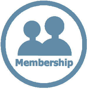 Membership icon blue
