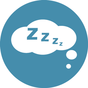 sleeping icon blue